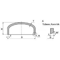 Дъно елипсоидно 133,0x4,0 -VA